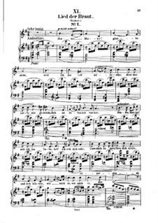 No.11 Песня невесты: Клавир с вокальной партией (немецкий текст) by Роберт Шуман