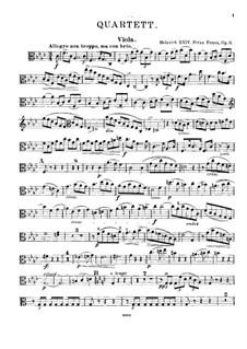 Фортепианный квартет фа минор, Op.6: Партия альта by Prinz Heinrich Reuss