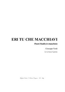 Бал-маскарад: Eri tu che macchiavi, for bass and piano by Джузеппе Верди