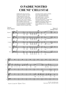 Фрагменты: O Padre Nostro, for SSATB choir by Джузеппе Верди