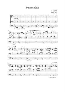 Passacaglia for Organ 3 staff: Passacaglia for Organ 3 staff by Джон Эбенезер Уэст