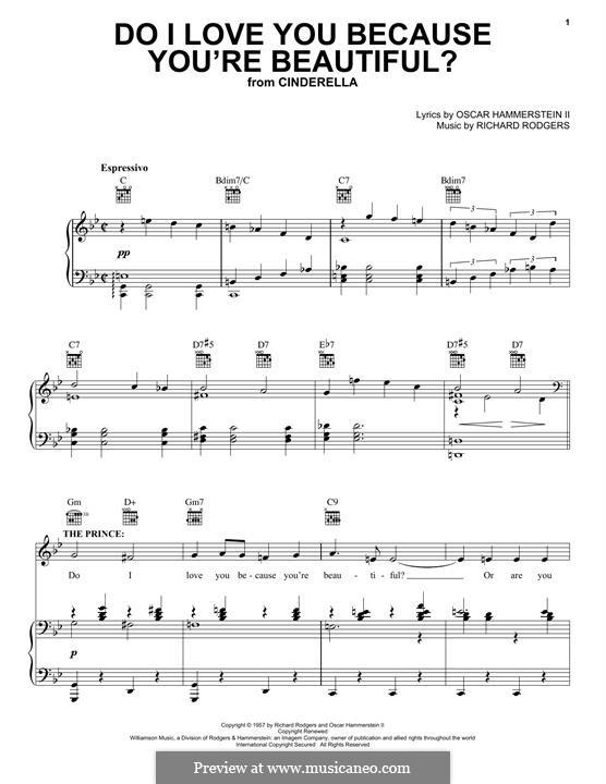 Do I Love You Because You're Beautiful?: Для голоса и фортепиано (или гитары) by Richard Rodgers