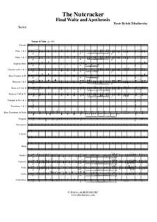 No.15 Финальный вальс и апофеоз: For full orchestra by Петр Чайковский