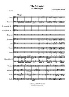 No.44 Аллилуйя: For choir and chamber orchestra by Георг Фридрих Гендель