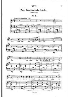 No.17 Венецианская песня No.1: Клавир с вокальной партией (немецкий текст) by Роберт Шуман