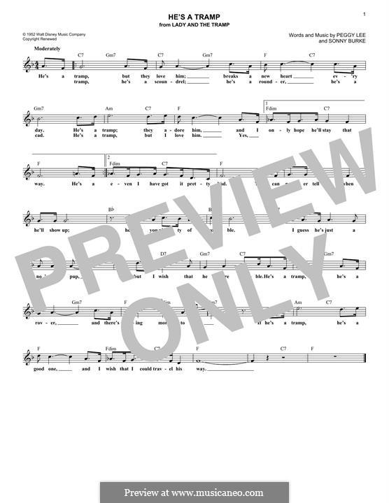 He's a Tramp: Мелодия by Sonny Burke