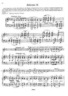 Избранные молитвословия всенощного бдения, Op.43: Акт II – клавир с вокальной партией by Михаил Ипполитов-Иванов