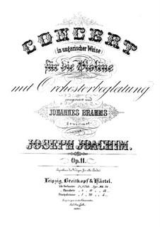 Концерт в венгерском стиле для скрипки с оркестром, Op.11: Для скрипки и фортепиано by Йозеф Иоахим