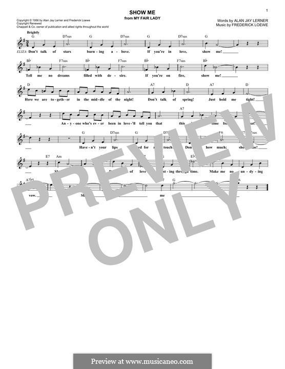 Show Me: Мелодия by Frederick Loewe