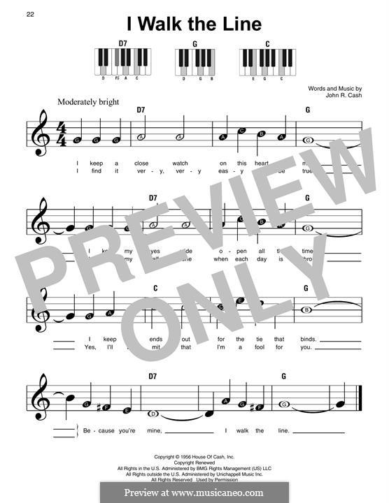 I Walk the Line: Для фортепиано by Johnny Cash