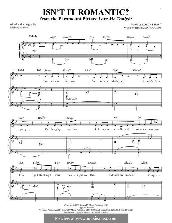Isn't it Romantic?: Для голоса и фортепиано by Richard Rodgers