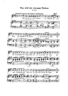 No.21 К чему слеза одиноко: Клавир с вокальной партией (немецкий текст) by Роберт Шуман
