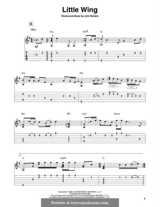Little Wing: Для гитары by Jimi Hendrix
