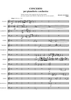 Piano Concerto: Piano Concerto by Helios D'Andrea
