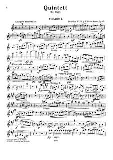 Фортепианный квинтет до мажор, Op.15: Скрипка I by Prinz Heinrich Reuss