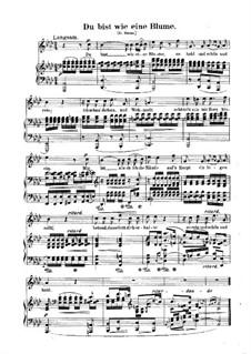 No.24 Как ландыш, ты прекрасна: Клавир с вокальной партией (немецкий текст) by Роберт Шуман