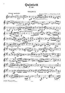 Фортепианный квинтет до мажор, Op.15: Скрипка II by Prinz Heinrich Reuss