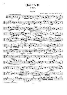 Фортепианный квинтет до мажор, Op.15: Партия альта by Prinz Heinrich Reuss