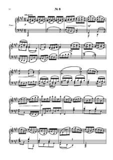 24 прелюдии и фуги для фортепиано: No.8 by Владимир Полионный