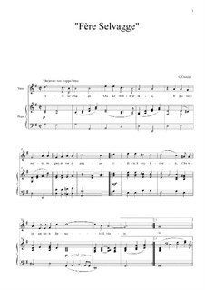 Fere selvaggie: Клавир с вокальной партией by Джулио Каччини