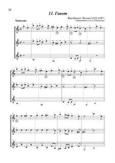 Гавот ре минор: Для трех гитар by Жан-Батист Люлли