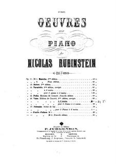 Вальс, Op.16: Для фортепиано в 4 руки by Nikolai Grigoryevich Rubinstein