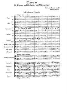 Концерт для фортепиано с оркестром до мажор, BV 247 Op.39: Часть I by Ферруччо Бузони