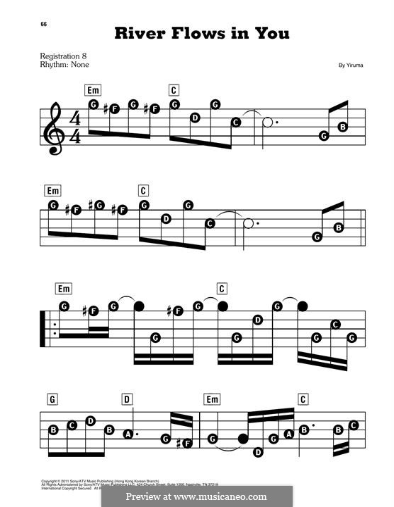 River Flows in You: Для фортепиано by Yiruma