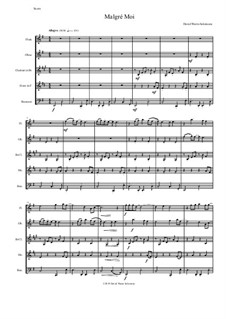 Malgré Moi: For wind quintet by Дэвид Соломонс