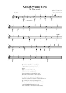 Cornish Wassail: For guitar by folklore
