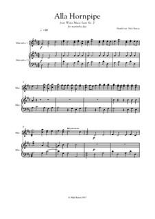Сюита No.2 ре мажор, HWV 349: Alla Hornpipe, for marimba duo by Георг Фридрих Гендель