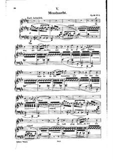 No.5 Лунная ночь: Клавир с вокальной партией (Немецкий текст) by Роберт Шуман