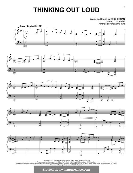 Thinking Out Loud: Для фортепиано (легкий уровень) by Ed Sheeran, Amy Wadge