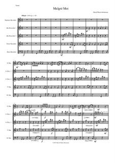 Malgré Moi: For recorder quintet by Дэвид Соломонс