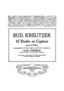 Сорок два этюда или каприса: Версия для скрипки и фортепиано by Родольф Крейцер