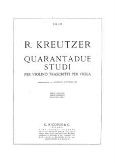 Сорок этюдов или каприсов для альта: Для одного исполнителя by Родольф Крейцер