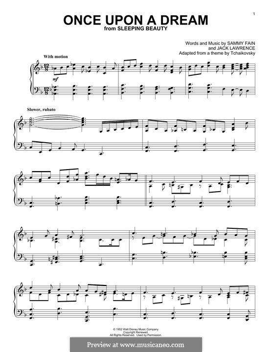 Once upon a Dream: Для фортепиано (легкий уровень) by Jack Lawrence, Sammy Fain