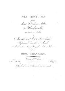 Шесть струнных квартетов, Op.30: Квартеты No.1-3 by Пауль Враницкий