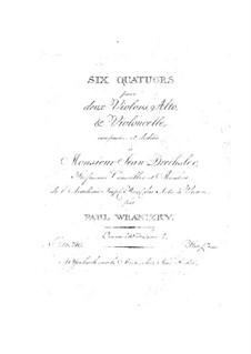 Шесть струнных квартетов, Op.30: Квартеты No.4-6 by Пауль Враницкий