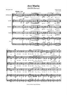 Ave Maria (SATB Chorus): Ave Maria (SATB Chorus) by Jordan Grigg