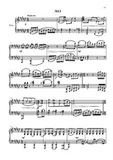 24 прелюдии и фуги для фортепиано: No.13 by Владимир Полионный