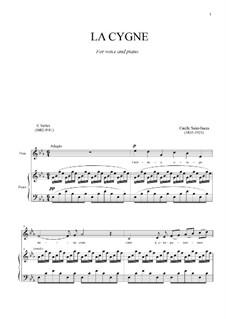Лебедь: Для голоса и фортепиано by Камиль Сен-Санс