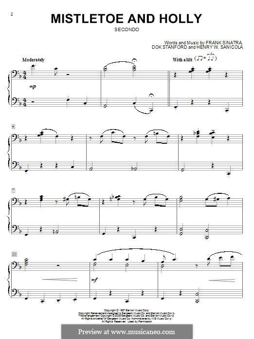 Mistletoe and Holly (Frank Sinatra): Для фортепиано by Dok Stanford, Henry W. Sanicola