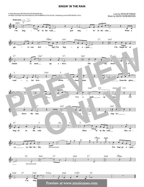 Singin' in the Rain (Gene Kelly): Мелодия by Nacio Herb Brown