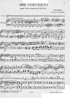 Концерт для скрипки с оркестром No.29 ми минор, WI:29: Версия для скрипки и фортепиано by Джованни Баттиста Виотти