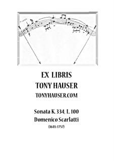 Соната No.100 си-бемоль мажор, K.334 L.100 P.412: Для гитары by Доменико Скарлатти