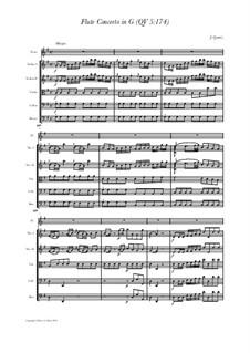 Концерт для флейты с оркестром No.161, QV 5:174: Score, parts by Иоганн Иоахим Квантц
