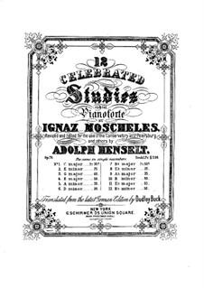 Двадцать четыре этюда для фортепиано, Op.70: No.1-12 by Игнац Мошелес