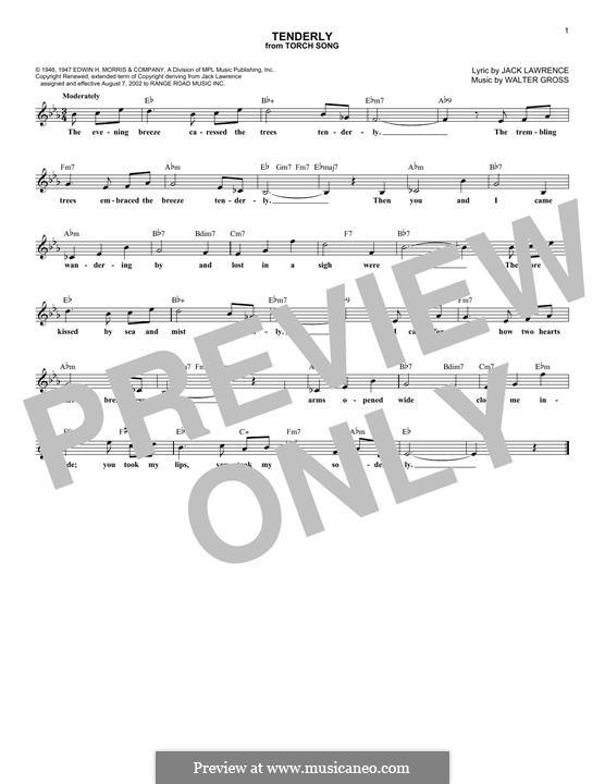 Tenderly: Мелодия by Walter Gross