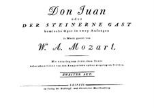Фрагменты: Акт II. Партитура by Вольфганг Амадей Моцарт